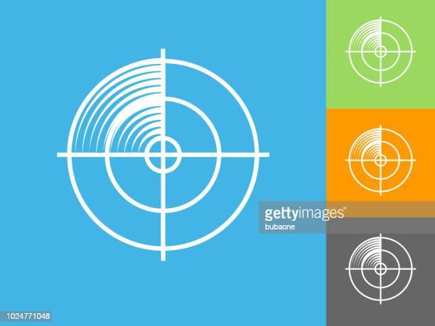 青の背景にレーダー画面フラット アイコン - 超音波検査点のイラスト素材/クリップアート素材/マンガ素材/アイコン素材