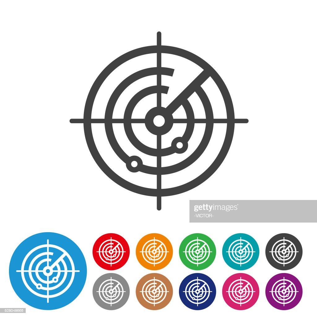Radar Screen Icons - Graphic Icon Series