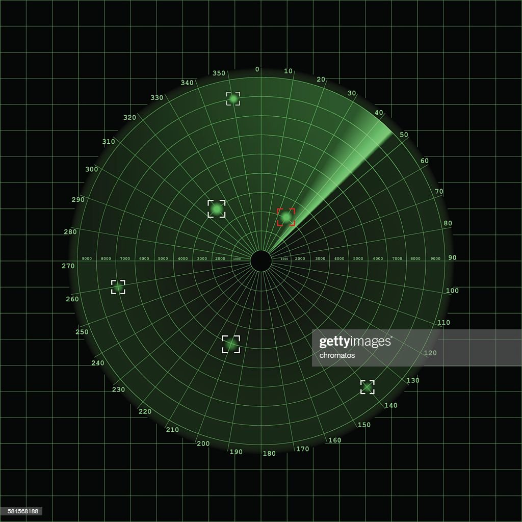 Radar screen on grid