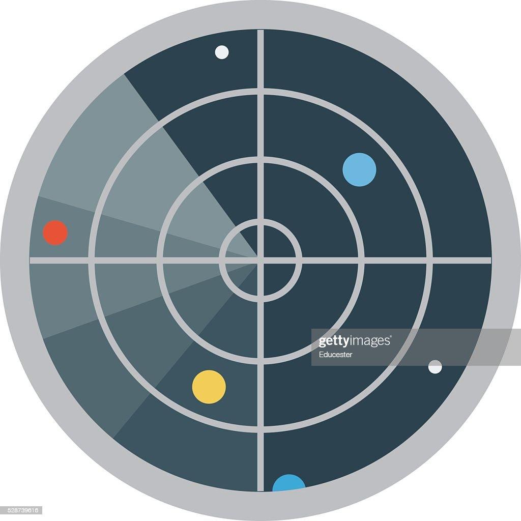 Radar Vector Illustration