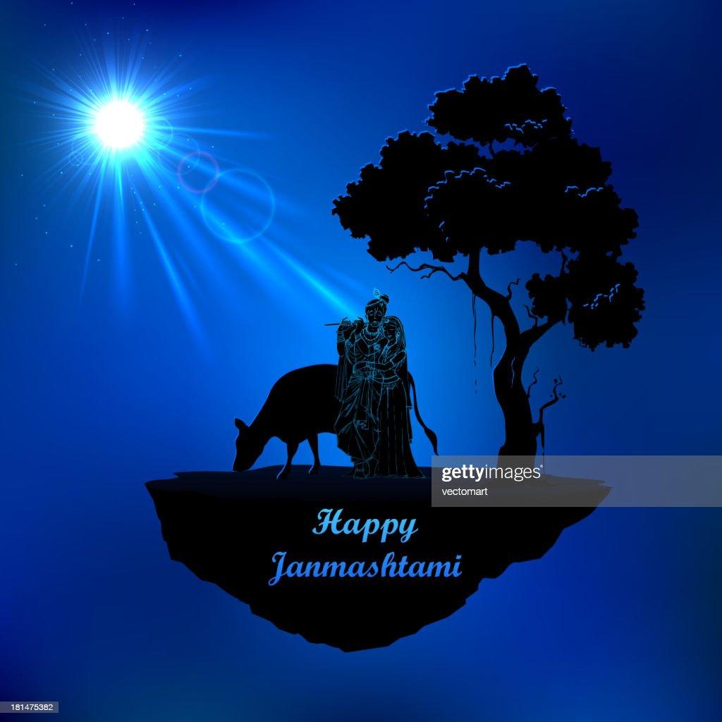 Radha and Krishna in Janmasthami night