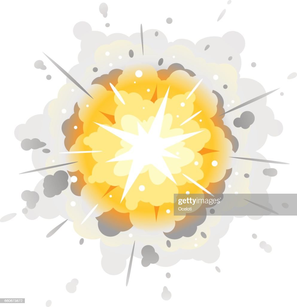 Radial Explosion Cartoon