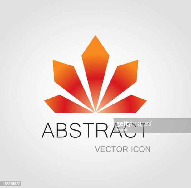 radiate icon - maple leaf stock illustrations