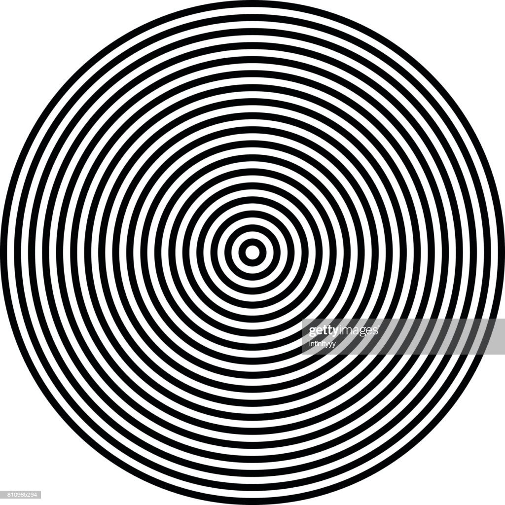 radiating circle graphics isolated on white