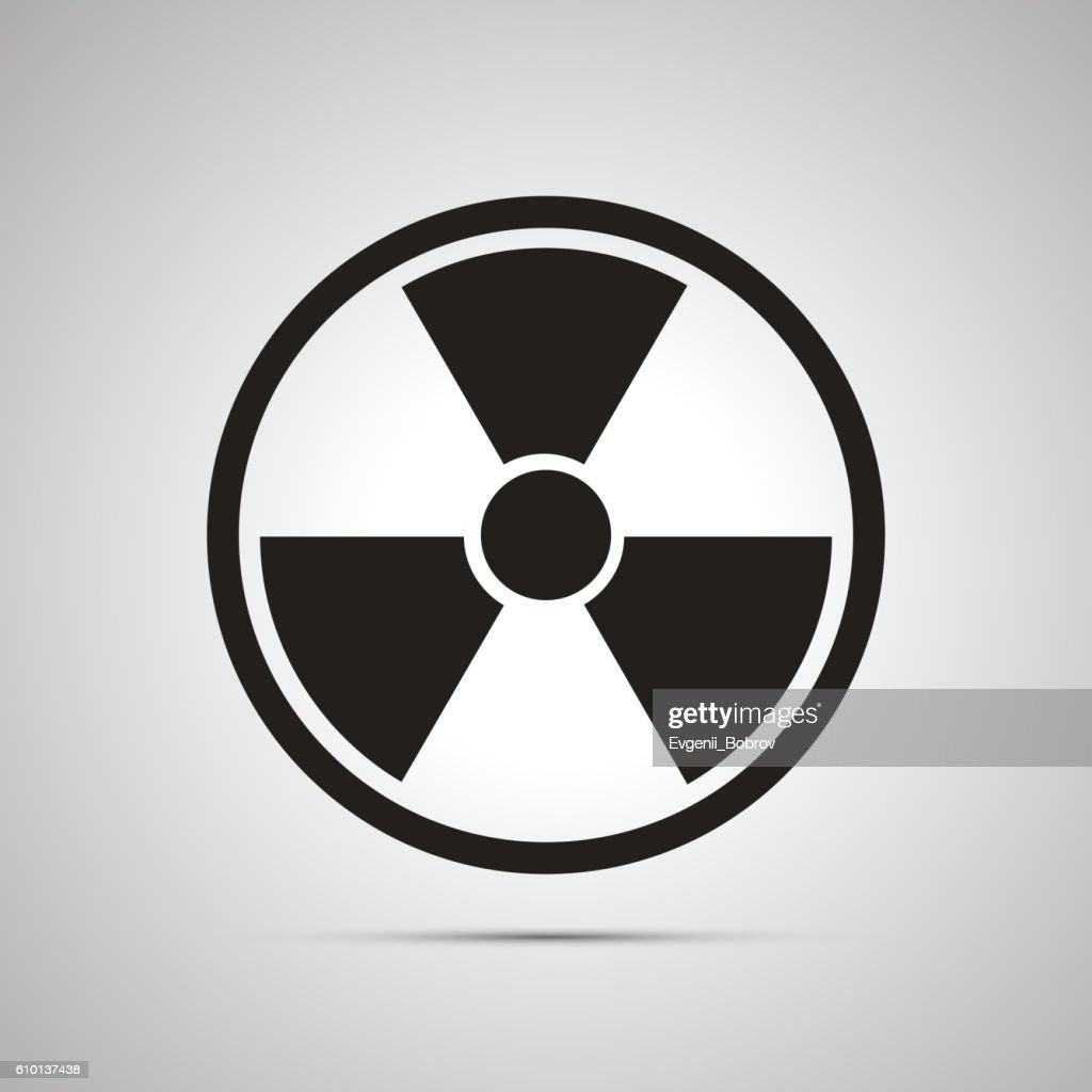 Radiation danger simple black icon