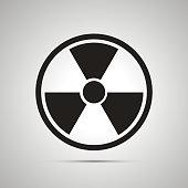 Radiation danger simple black icon