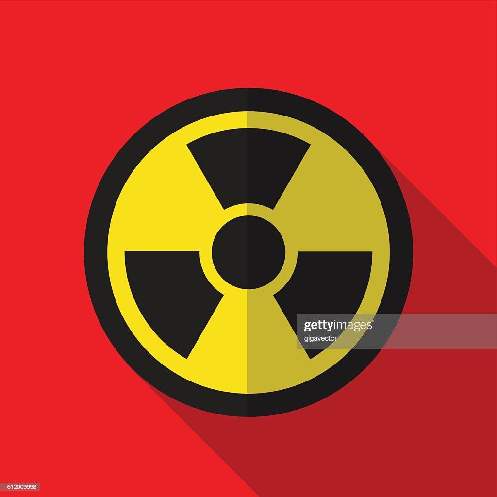 Radiation flat icon illustration