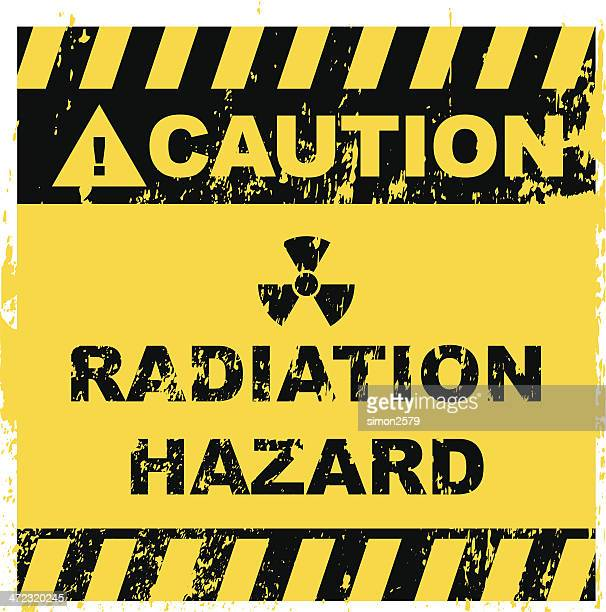 radiation hazard sign - radioactive warning symbol stock illustrations