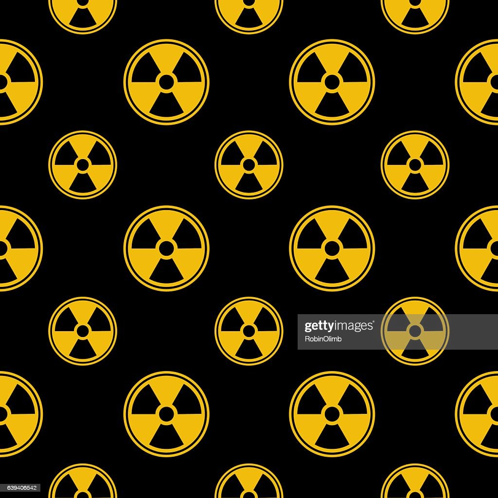 Radiation Icon Seamless Pattern