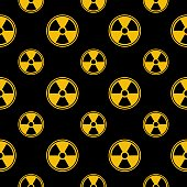 Radiation Icon Seamless Pattern
