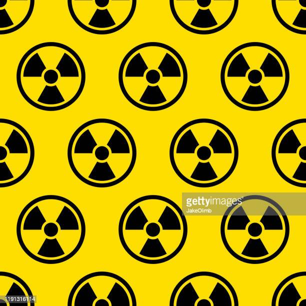 radiation pattern - radioactive contamination stock illustrations