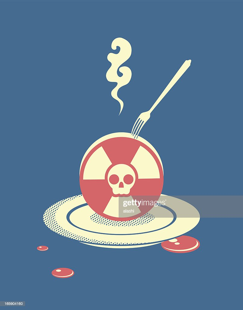 Radiation pollution : stock illustration