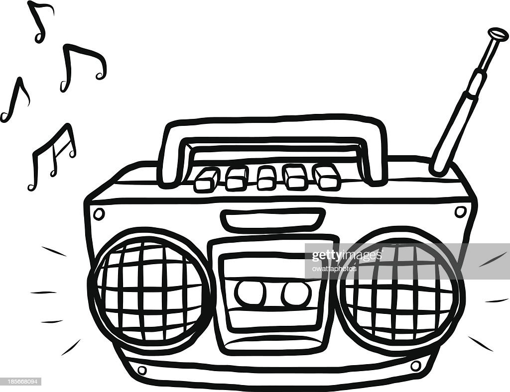 radio and cassette player