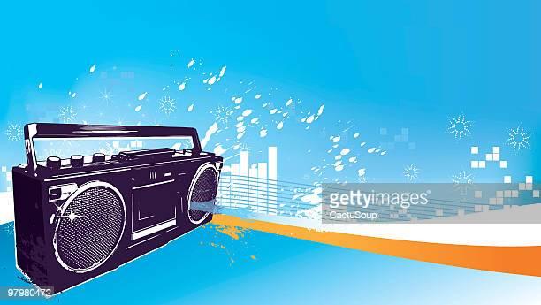 Radio cassete background