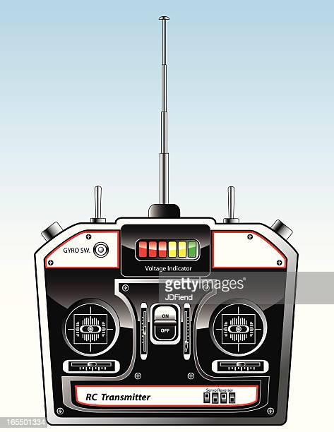 radio control flight transmitter - joystick stock illustrations, clip art, cartoons, & icons