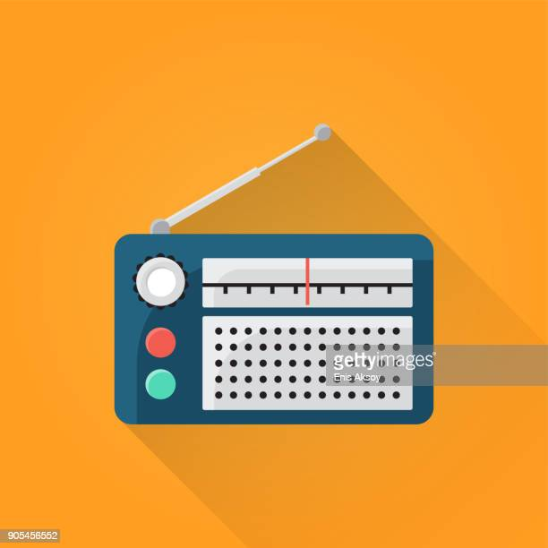 radio flat icon - radio stock illustrations
