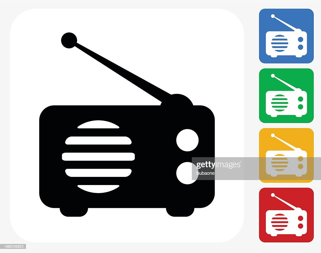 Vintage radio microphone icon Free Vector