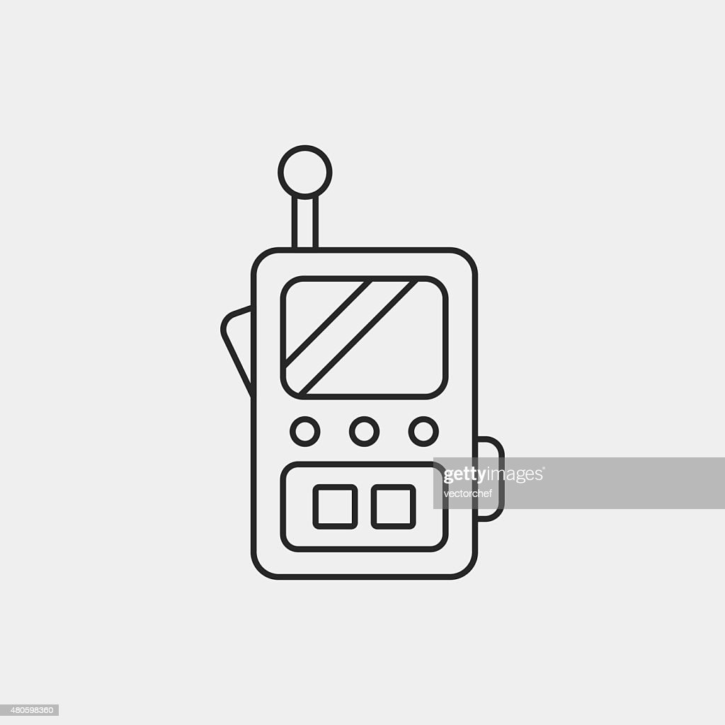 radio line icon : Vector Art