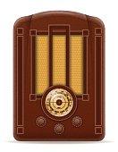 radio old retro vintage icon stock vector illustration