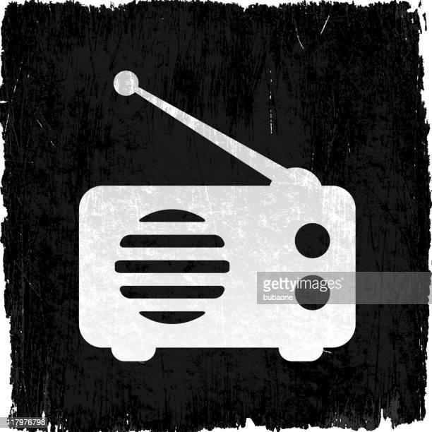 radio on royalty free vector background - wood stain stock illustrations, clip art, cartoons, & icons