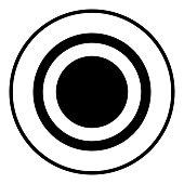 Radio signal symbol connect icon black color illustration flat style simple image