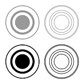 Radio signal symbol connect icon set grey black color
