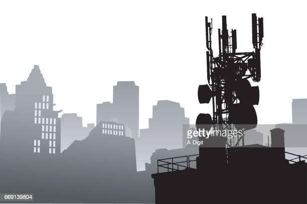 Radio Tower Cityscape