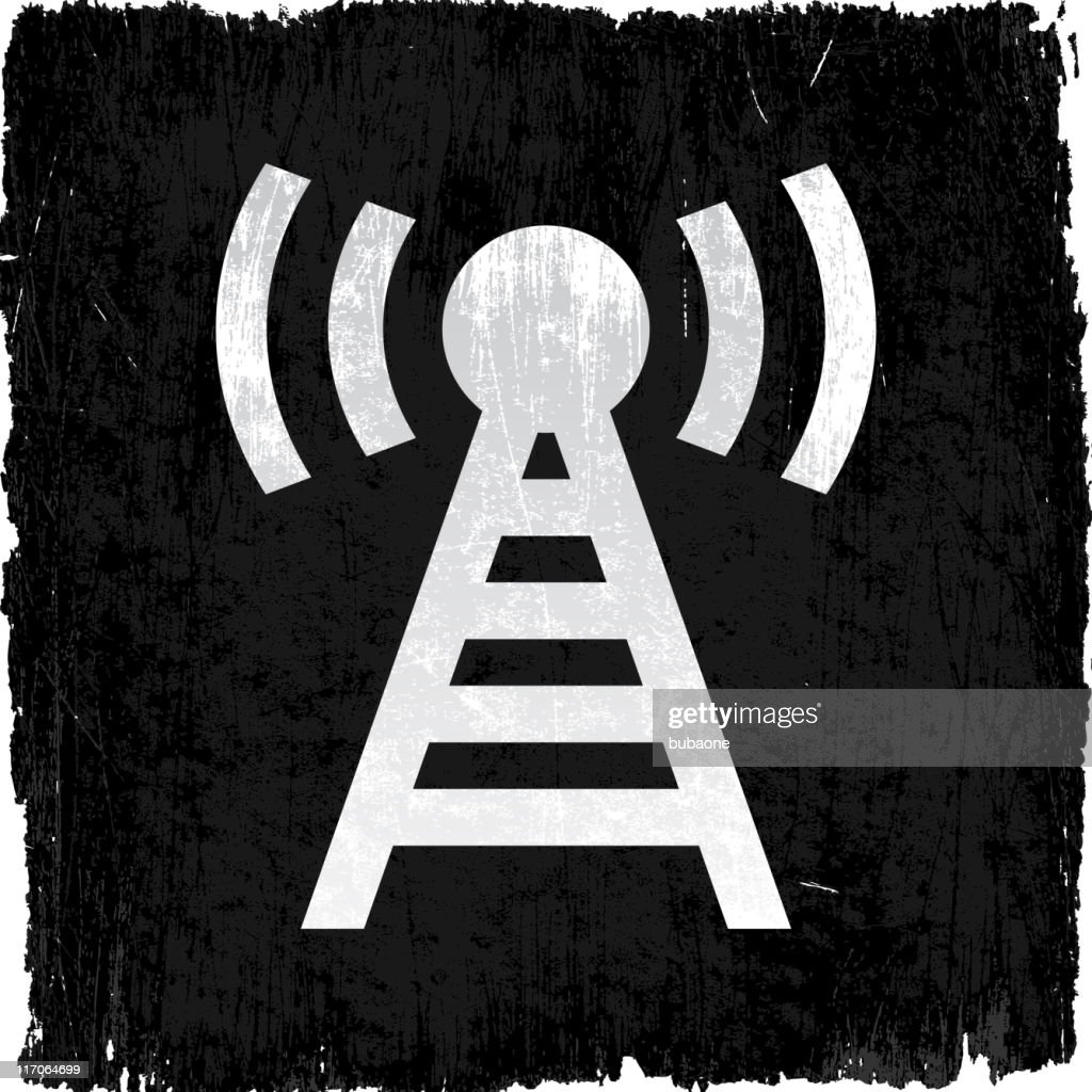 Radio Tower On Royalty Free Vector Background Stock