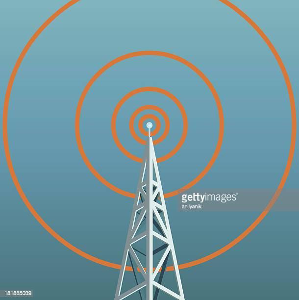 ilustraciones, imágenes clip art, dibujos animados e iconos de stock de funkturm - torres de telecomunicaciones