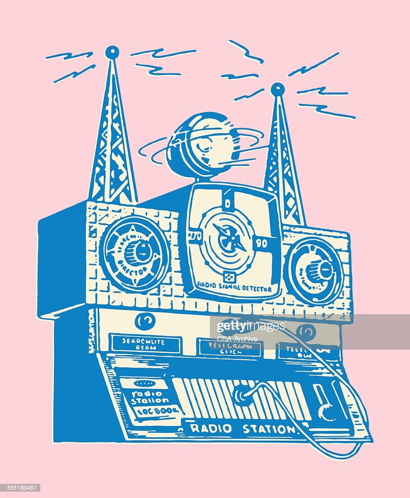 Radio Tower stock illustration - Getty Images