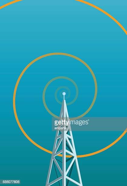 radio tower w/ spiral waveform