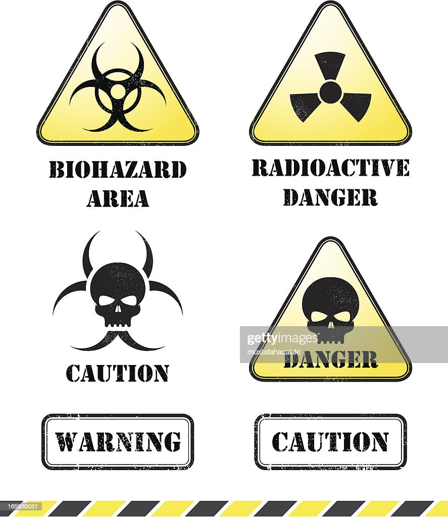 Radioactive Danger Signs stock illustration - Getty Images