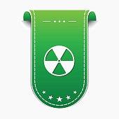 Radioactive Sign Green Vector Icon Design
