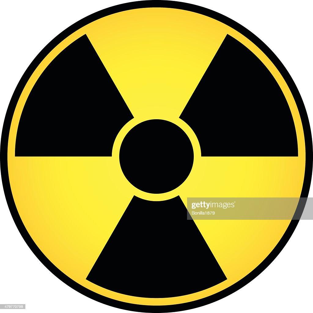 Radioactive sign vector