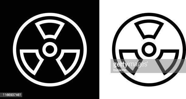 radioactive symbol icon - radioactive warning symbol stock illustrations