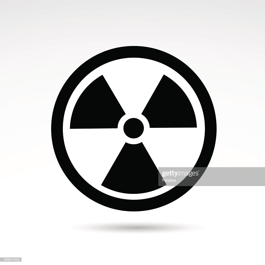 Radioactive zone warning icon.