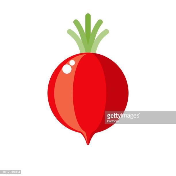 Radish Flat Design Vegetable Icon