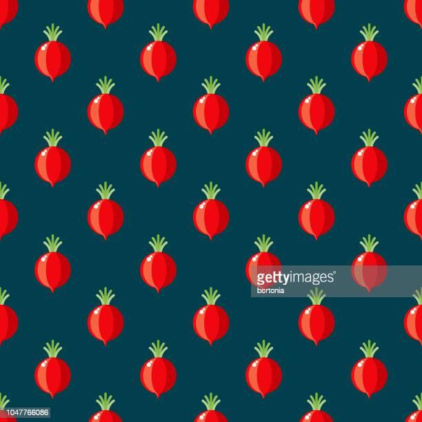 Radish Vegetables Seamless Pattern