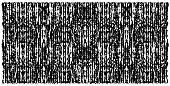 Ragged vertical lines creating symmetrical horizontal pattern