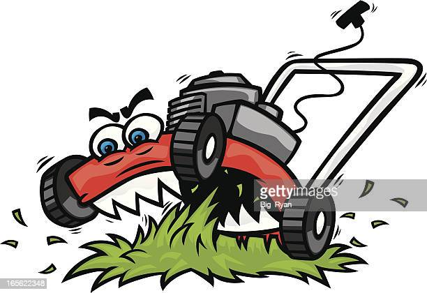 lawn mower vector art and graphics