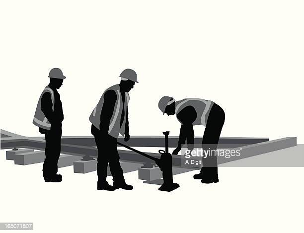 Rail Construction Vector Silhouette