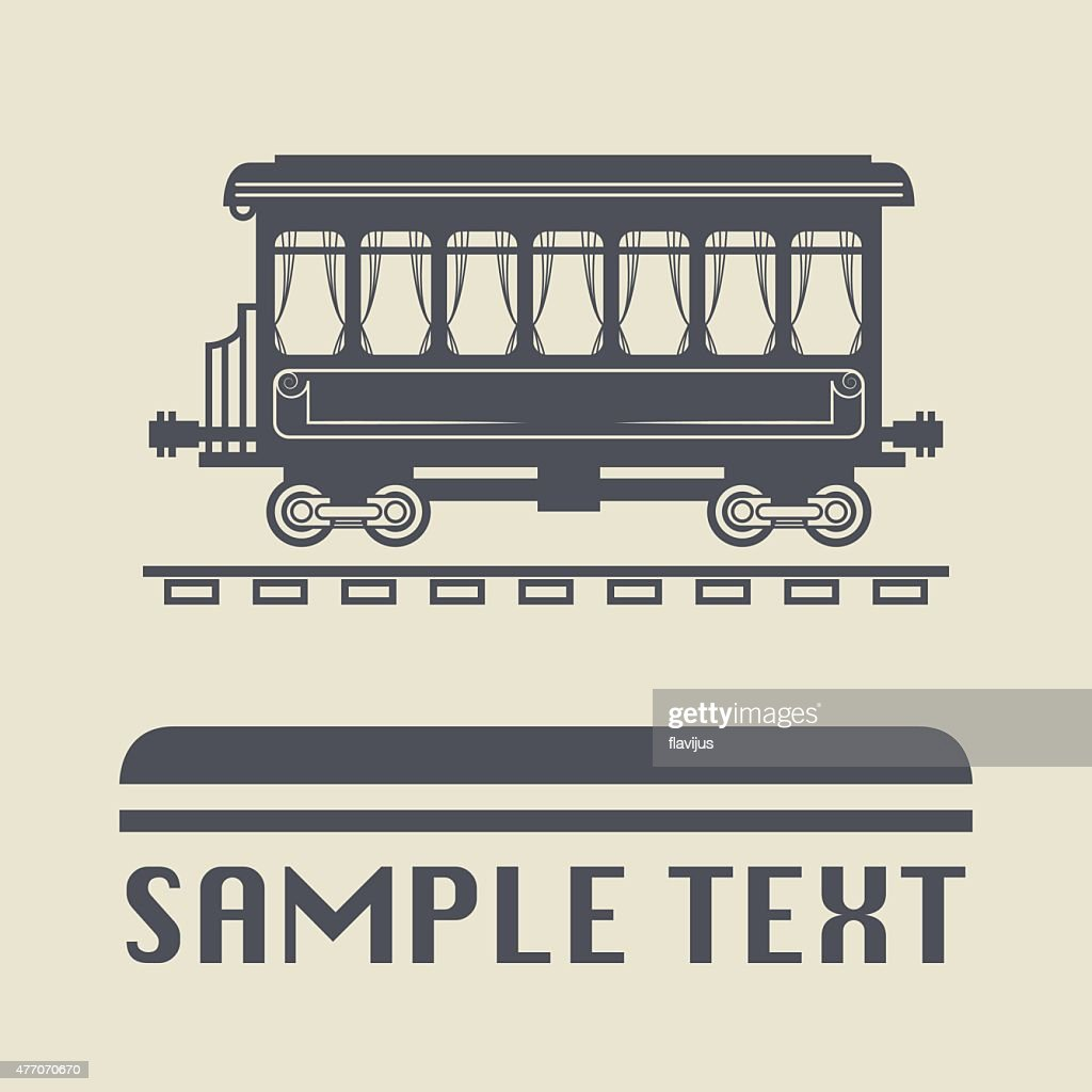 Rail Wagon icon or sign