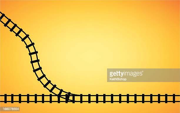 Railroad Track Junction Background