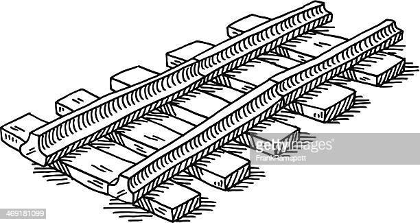 Railroad Track Symbol Drawing