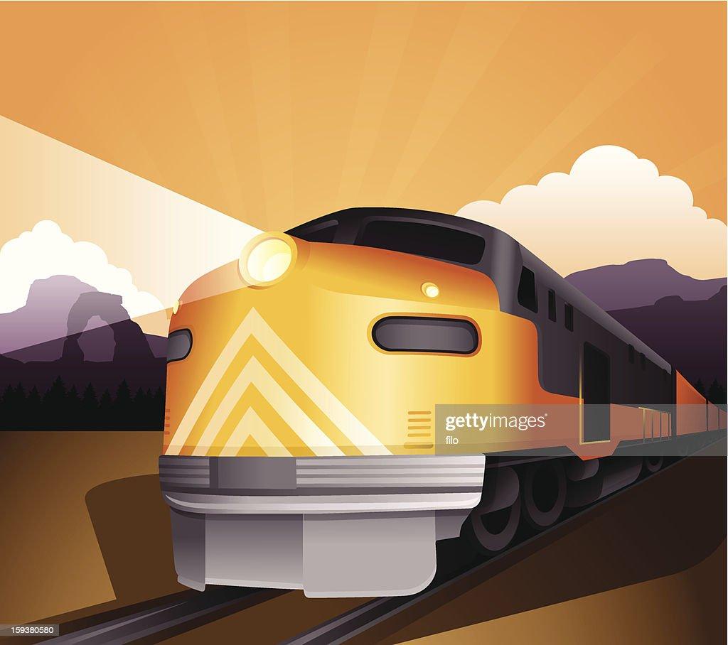 Railroad Train : Vektorgrafik