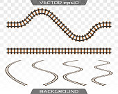 Rails and sleepers. Vector.