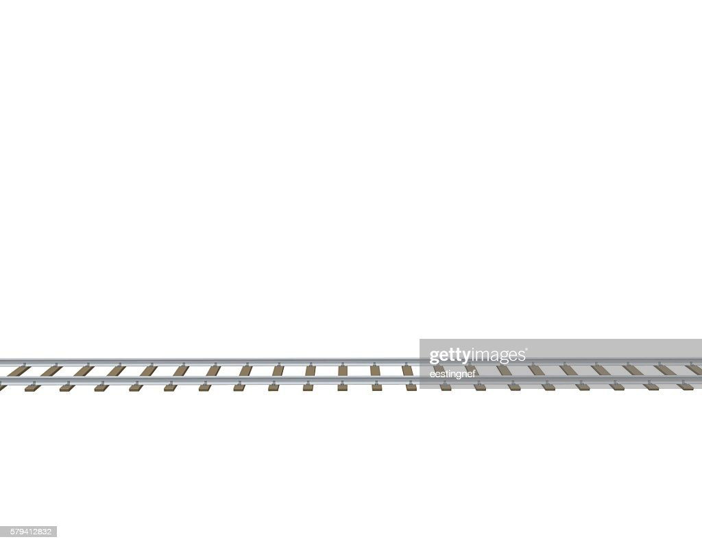 Railway track. 3d Vector illustration.Side view.