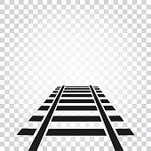 railway track isoleted icon
