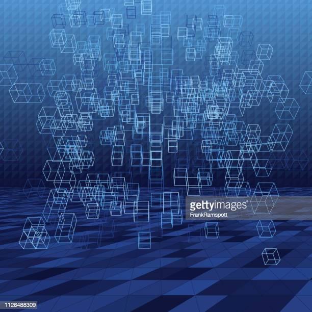 Regen abstrakte 3D-Vektor Cube