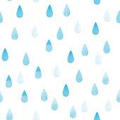 Rain blue seamless drops